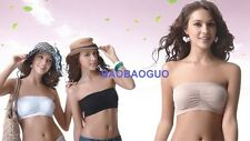 NEW 3 PC Lot Strapless Stretch Seamless Tube Top Bra Various Color S M L XL 2XL