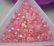 Jelly Light Pink AB Crystal Multiple faceted resin Flat Back Rhinestones glue