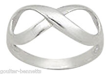 925 Sterling Silver Infinity Ring Multiple Sizes Available Free UK Shipping