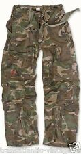 SURPLUS INFANTRY CARGO PANTS MENS VINTAGE ARMY BAGGY LONG COMBAT TROUSERS CAMO