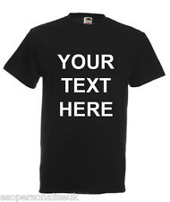 Personalised Mens T-Shirt - Your Text / Slogan, Customised, Printed S-3XL
