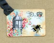 Hang Tags  FRENCH BEE HIVE ROSE POSTCARD TAGS or MAGNET #134  Gift Tags