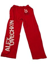 New NHL Men's Alex Ovechkin #8 Pajamas Leisure Pants Small-XLarge Capitals Red