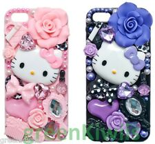 3D Bling Crystal Luxury Rhinestone Pink Hello Kitty Diamond iPhone 5, SE Case