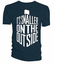 Doctor Who Tardis I'ts Smaller On The Outside Blue T Shirt BBC Licensed Dr Who