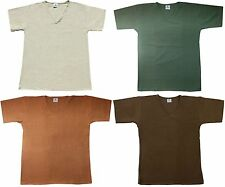 Hemp V-Neck T-Shirt Men's White Green Light/Dark Brown short sleeve S M L XL XXL