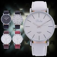 Milanoo Contrast 5Color Thin Light Fashion Big Dial Men Unisex Casual Wristwatch