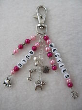 'WESTIES RULE' Bag / Key Charm - Dog / Puppy~ Dog Lovers Gift ~ Westie / Scottie