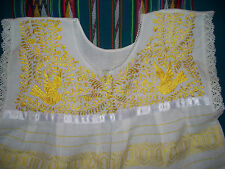 Hand-Embroidered Mexican Huipil Dress
