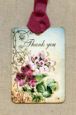 Hang Tags  THANK YOU GERANIUM FLOWER TAGS or MAGNET #207  Gift Tags