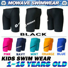 mowave kids junior competition swimwear half pants shorts jammer 1~15years old