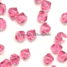5mm Rose (209) Genuine Swarovski crystal 5328 / 5301 Loose Bicone Beads