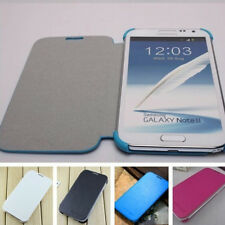 New PU Leather Flip Fine Case Cover For Samsung Galaxy Note II 2 N7100 4 Colors