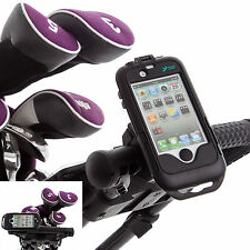 Golf Pro Handlebar Mount with IPX4 Waterproof Tough Case for Apple iPhone 4 4S