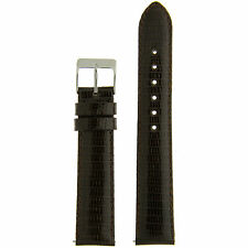 Watch Band Genuine Lizard Dark Brown Quick Release Built-in Pins