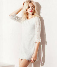 Five colors!all sizes,women's 2013 New STYLE Lace Dress Lined Bell Sleeve  H.M