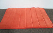 MEMORY FOAM BATHROOM BATH MAT RUG- BRIGHT ORANGE RUST   -  3 SIZES AVILABLE!