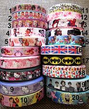 1M AU CHOIX  ruban gros grain disney / cartoon  scrapbooking carterie couture 3