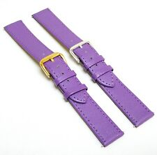18 mm Purple Leather Women Watch Strap Band with Gold / Silver Buckle