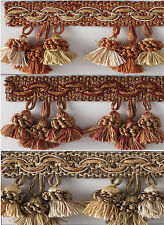 Various Colors Dora Tassel Fringe By The Yard for Draperies, Pillows, and more