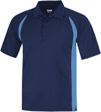 BAW Adult SS CT800 Men's Color Body Cool-Tek Polo Navy Columbia Blue Wicking