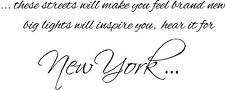 NEW YORK LYRICS MUSIC ALICIA KEYS WALL ART VINYL STICKER HOME DIY