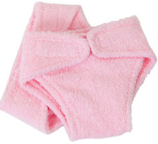 FRILLY LILY PINK TERRY FABRIC NAPPIES X2 FOR DOLLS AND BEARS, LOTS OF SIZES!