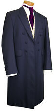 MENS MANS FROCK COAT BLUE WEDDING FANCY DRESS PROM STUNNING QUALITY EDWARDIAN