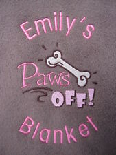 Personalised Dog / Puppy Blanket - New Pet - Soft & Cosy Fleece - Great Gift !