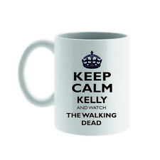 PERSONALISED KEEP CALM AND WATCH MUG /COASTER, YOUR NAME & SHOW, 60/70/80/90's