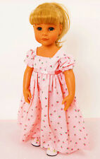 FRILLY LILY LONG ROSEBUD DRESS FOR DOLLS AND BEARS, LOTS OF SIZES !
