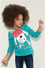 BNWT GIRLS NEXT A/W 2013 PREVIEW TEAL DOG (CHARACTER)  L/S TOP VARIOUS SIZES
