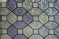 "privacy geometric decorative stained glass window film 36""x1 6 9 ft feet GW529D"