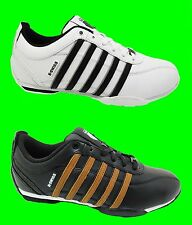 Mens K-SWISS Arvee Trainers New Leather White Black Lace Up Sale Size 6 - 12