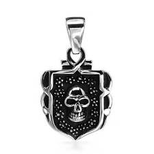 Skull pendant Stainless Steel New in gift box FREE SHIPPING TO AUSTRALIA