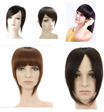 6 color hand made weft bang remy human hair fringe , clip-in hair extensions