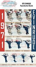 1971 Evinrude Outboard 2, 4, 6, 9.5, 18, 25, 40, 50, 60, 85, 100, 125 HP Decals