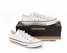Converse All Star Chuck Taylor OX Optical White Low Top M7652 Sz3-13 Fast Ship