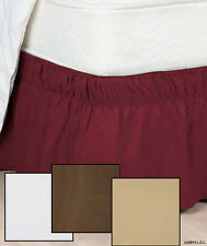 Wrap-Around Bedskirt Dust Ruffle Bed Skirt White Tan Brown Twin/Full Queen/King