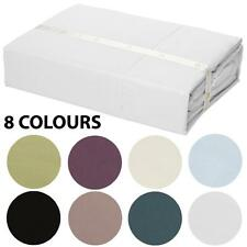 400TC 100% Egyptian Cotton Luxury Fitted Sheet Set - 3 Bed Sizes - 8 Colours
