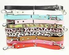 "New 48inch Smooth PU Leather Dog Leashes Lead 3/4"" Wide For Small Medium Dogs"
