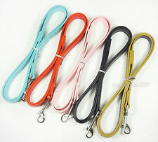 """New 48inch Gator PU Leather Dog Leashes Lead 3/4"""" Wide For Small Medium Dogs"""