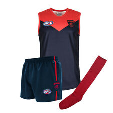 Official AFL Footy Melbourne Demons Kids Auskick Jumper Guernsey Shorts Socks