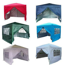 NEW WATERPROOF 10 X 10 EZ POP SET UP CANOPY TENT GAZEBO W/ 4 WALLS