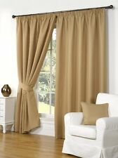 """46"""" x 54"""" GOLD WAFFLE EFFECT CURTAINS 3"""" TAPE / PENCIL PLEAT TOP FULLY LINED"""