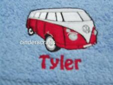 White Bath/Hand/Face Towel Set  Embroidered with VW Camper