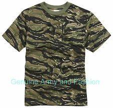 NEW COMBAT MILITARY AMERICAN VINTAGE ARMY US VIETNAM TIGER T-SHIRT XS-3XL