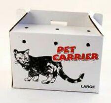 PPI Pet Cardboard Carry Box Carrier Cats & Small Pets Choose Size