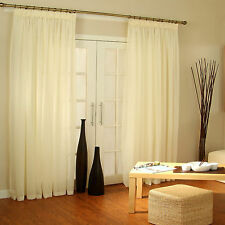EXTRA WIDE LONG Voile Net Sheer Panels for Patio Bi Fold French Sliding Doors