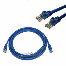 Cat5 Cable Network Ethernet Router CAT5E LAN 15FT Blue Switch RJ45 Patch Cord